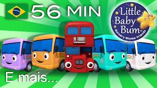 Dez Pequenos Ônibus   E muitas mais Canções de Ninar   LittleBabyBum!