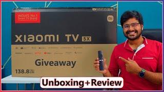 Xiaomi MI TV 5X (2021 Model) 55 Inch 4K Unboxing And Review | Amazing Picture + 40 Watt Audio = 💖
