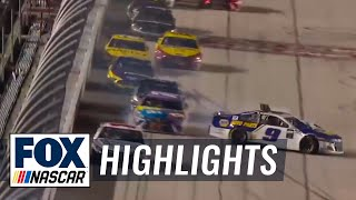 Chase Elliott gets turned by Kyle Busch battling for 2nd place | NASCAR ON FOX HIGHLIGHTS
