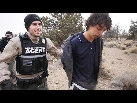 YOUNG KID CAUGHT AFTER ATV CHASE IN THE DESERT