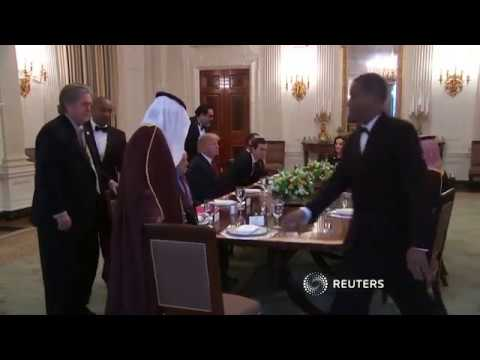 Trump lunches with Saudi deputy crown prince