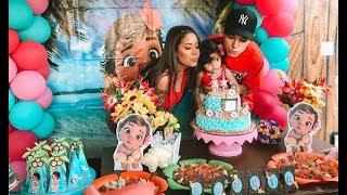 Aniversário de 1 ano da Sophia, festa da moana