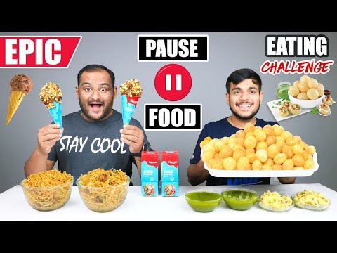 EPIC PAUSE GOLGAPPA EATING CHALLENGE | Chinese Noodles Eating Competition | Food Challenge