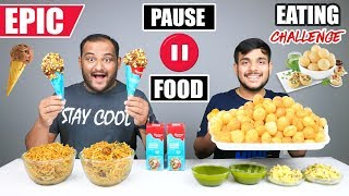 EPIC PAUSE GOLGAPPA EATING CHALLENGE | Chinese Noodles Eating Competition | Food Challenge Video