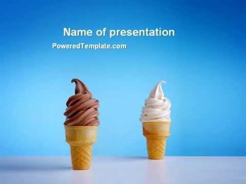 chocolate and vanilla ice cream powerpoint template by