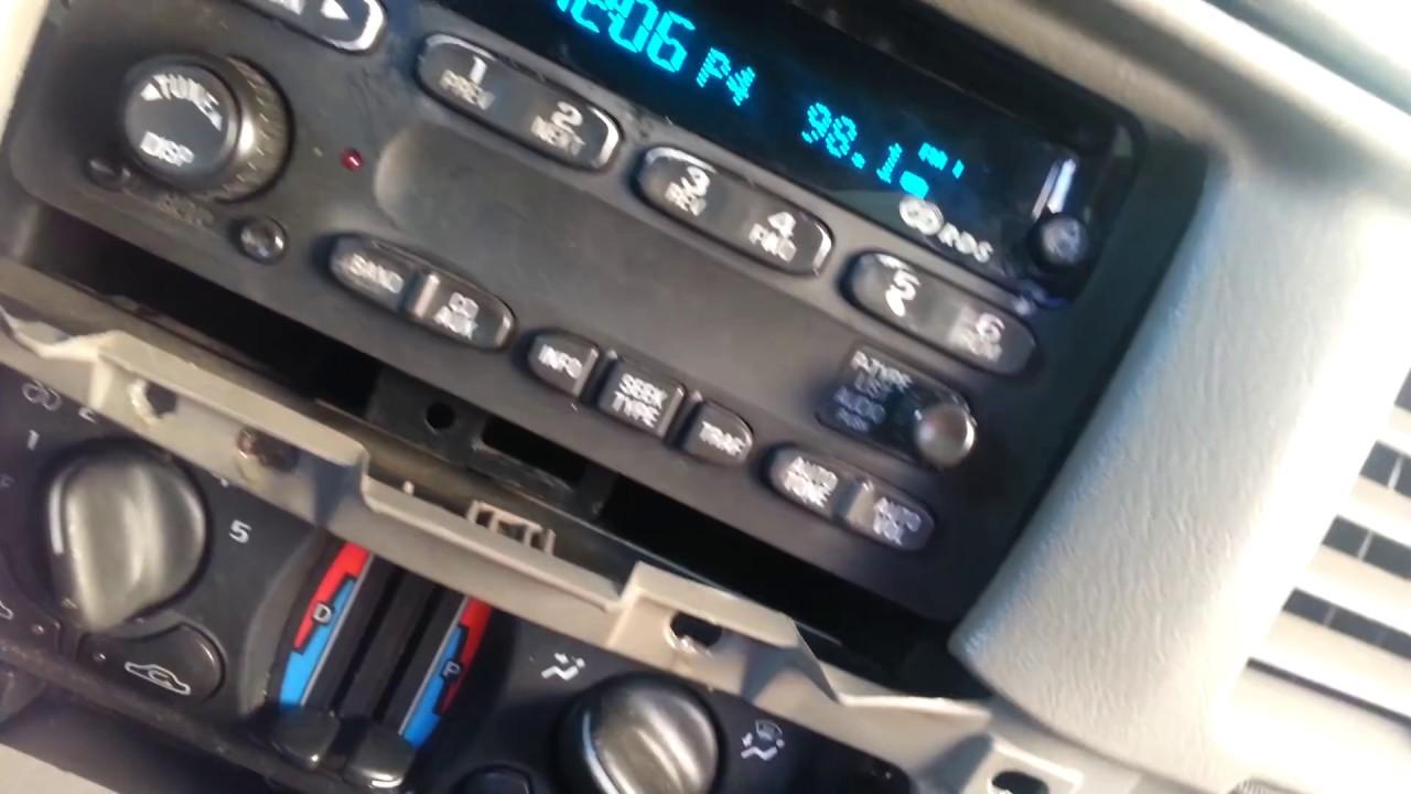 gm radio cal err single phase psc motor wiring diagram how to unlock radios 2000 2005 youtube