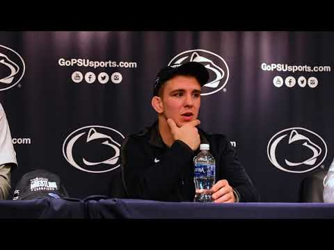 Penn State's Sanderson, Retherford, Cassar & Joseph after Ohio State win