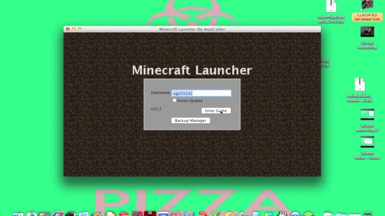 minecraft mac os x install mods