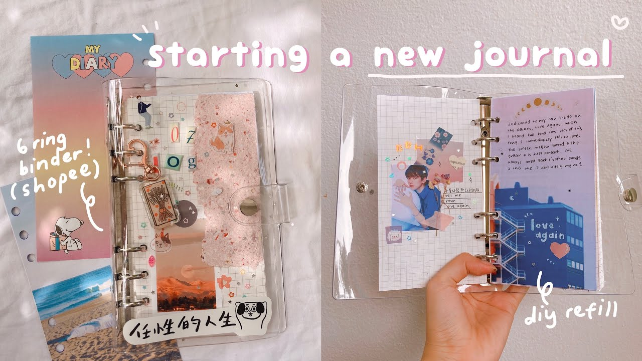 decorate my six ring binder, make refills & journal with me! ✨