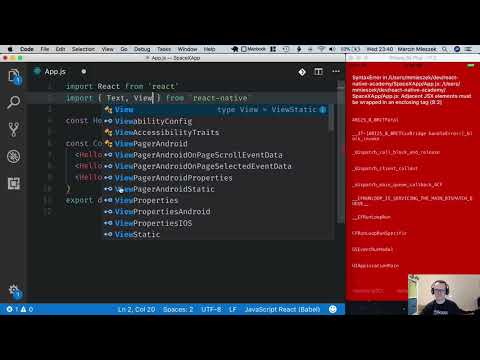 React Native Tutorial - Getting Started #6 - Use React Props thumbnail
