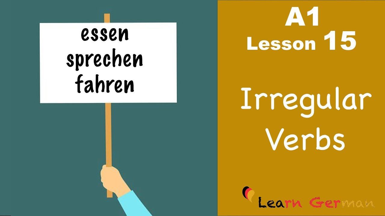 Learn German for beginners A1 - Verb conjugation (Part 3) - Lesson 15