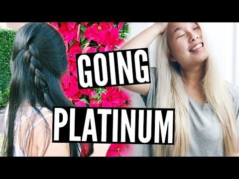 Virgin Asian Black Hair To Platinum Blonde ✂️ DIY   Alex Jayne