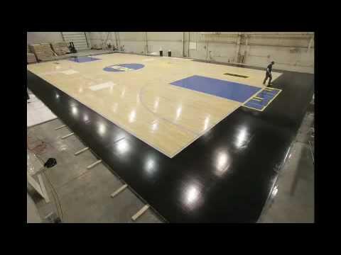 2009 NCAA Basketball Floor Construction