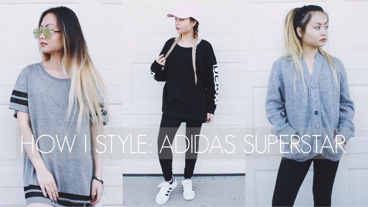 how i style adidas superstar youtube. Black Bedroom Furniture Sets. Home Design Ideas