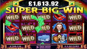 £28,415.05 WIN ON THE WIZARD OF OZ™ ONLINE SLOT AT JACKPOT PARTY®