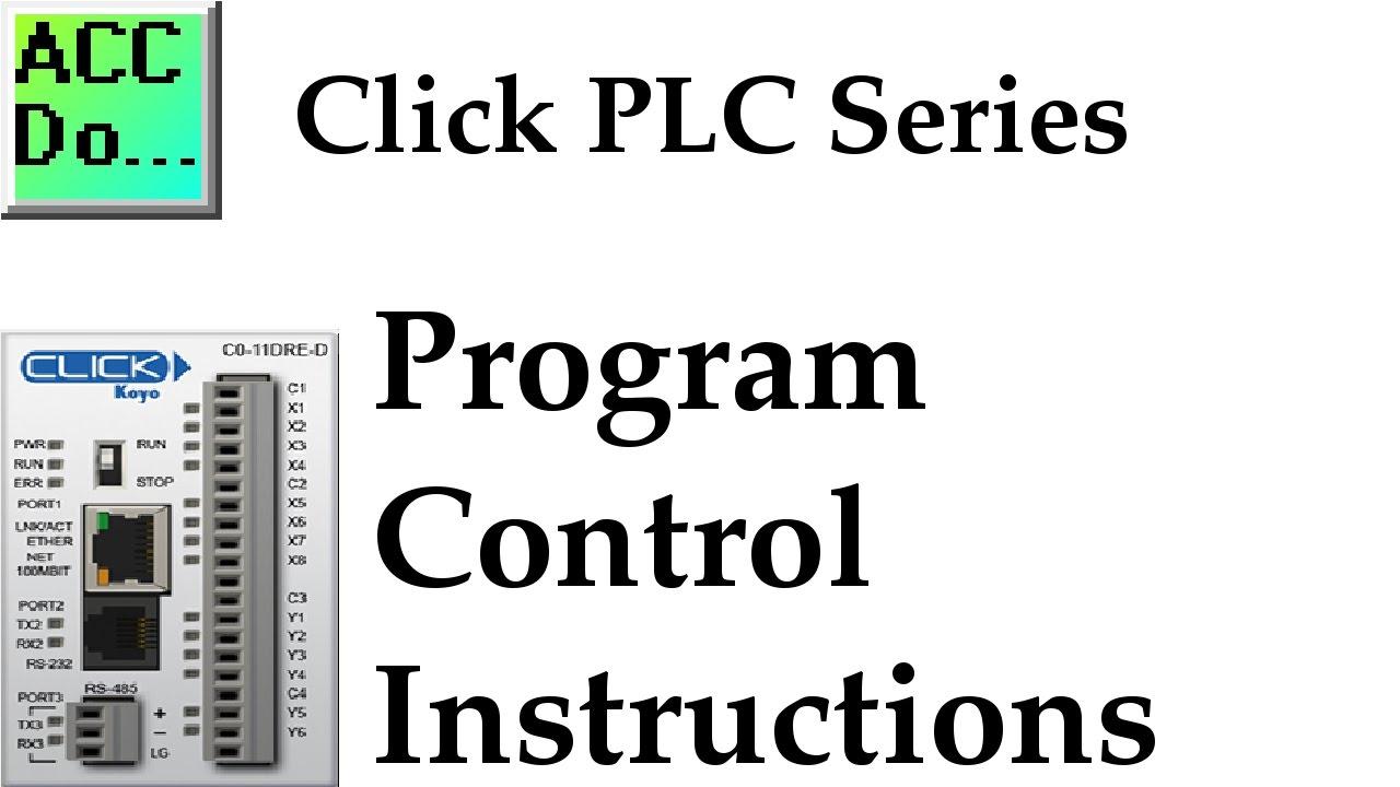 Click Plc Program Control Instructions