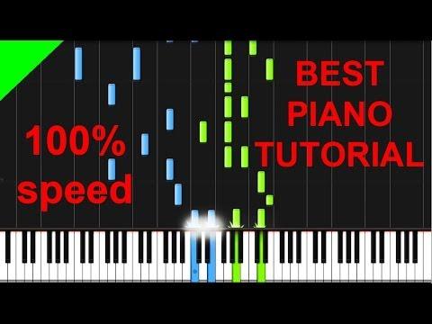Sander van Doorn, Martin Garrix, DVBBS - Gold Skies piano tutorial