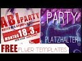 FREE Photoshop Party Flyer Templates