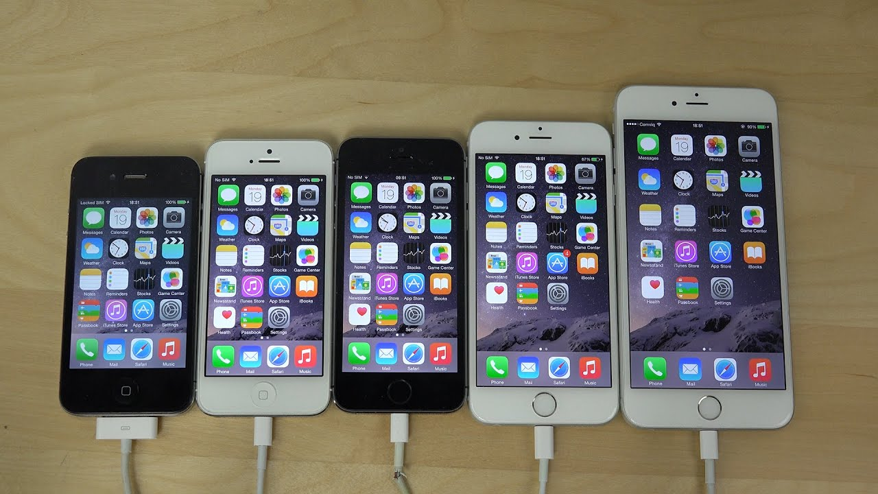 iPhone 6 Plus vs. iPhone 6 vs. iPhone 5S vs. iPhone 5 vs ...