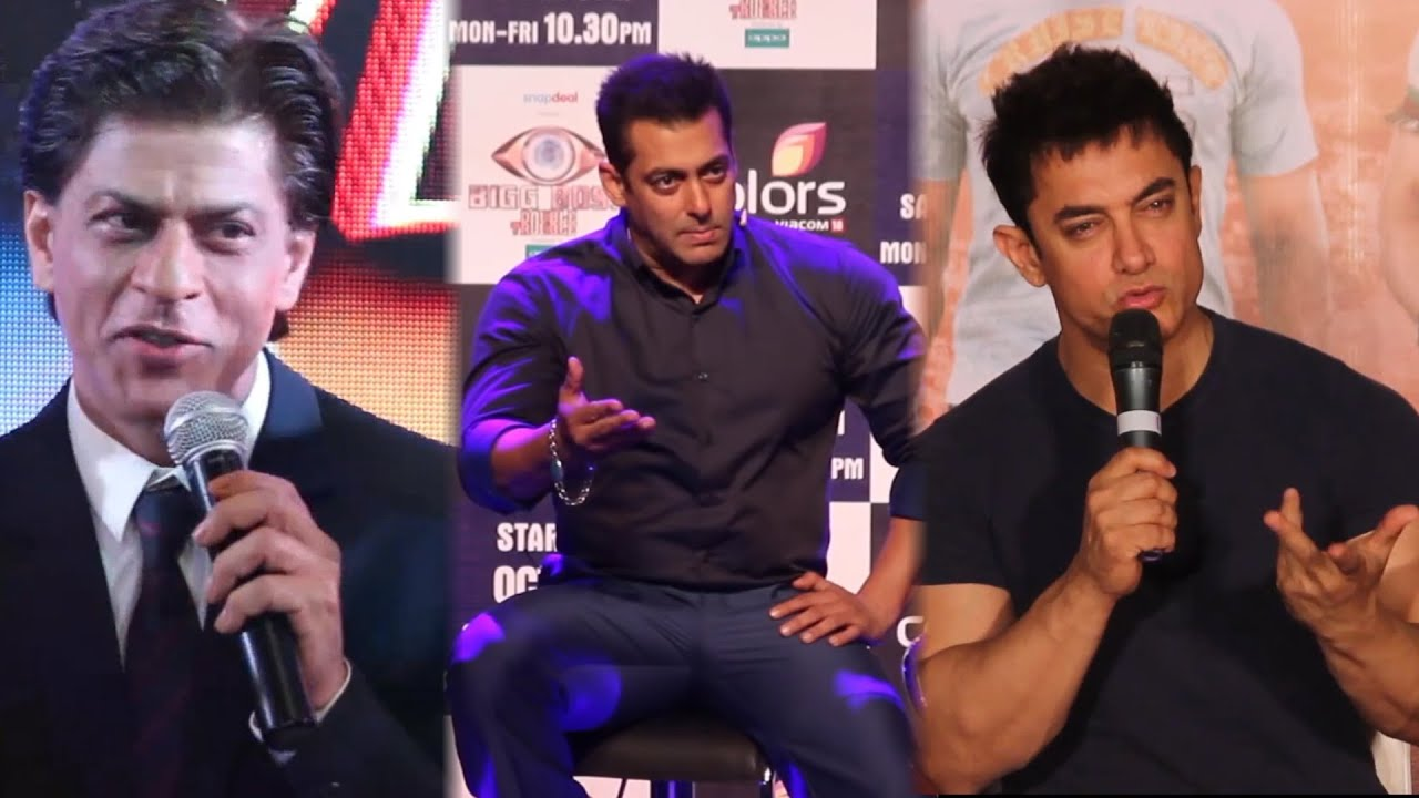 3 Khans Together Salman Khan Aamir Khan Shahrukh Khan Youtube