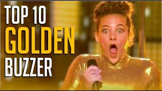 Top 10 BEST Golden Buzzers On America's Got Talent EVER!