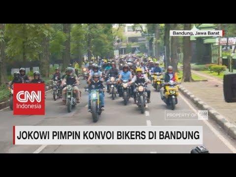 Jokowi Pimpin Konvoi Bikers Di Bandung