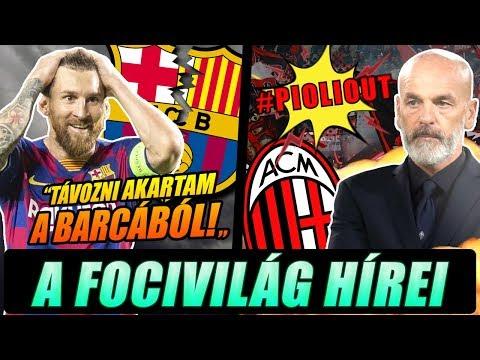 Messi távozni akart a Barcából! A Milan drukkerek tüntetnek az új edző ellen!