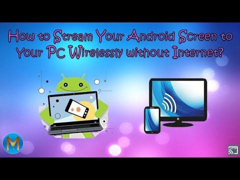 How to Stream Your Android Screen to Your PC Wirelessly without Internet? [IN HINDI]