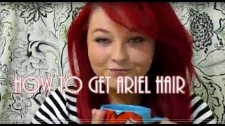 how to get ariel bangs/hair easy DIY