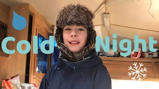 A cold night on our narrowboat, Cruising day Shipton to Enslow