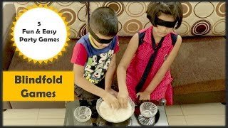5 Party games   5 Blindfold games   one minute games for Kids party and kitty party games