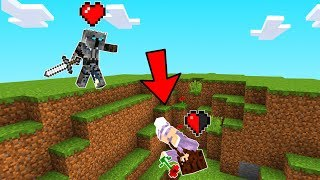 Minecraft BUT We Only HAVE 1 HEART! (X Life 1)