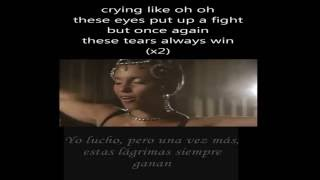 Alicia Keys - Tears Always Win (VIDEO Lyrics+ Sub Español)