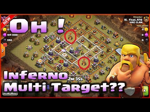 CoC👉3-STAR TH11🎁INFERNO MULTI TARGET GO DOWN AFTER UPDATED⭐STRONG BEAT WITH THE BEST STYLE!