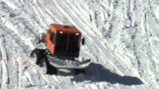 Driving A Tucker Sno-Cat Off The Ridge At Mount Rose Communications Site