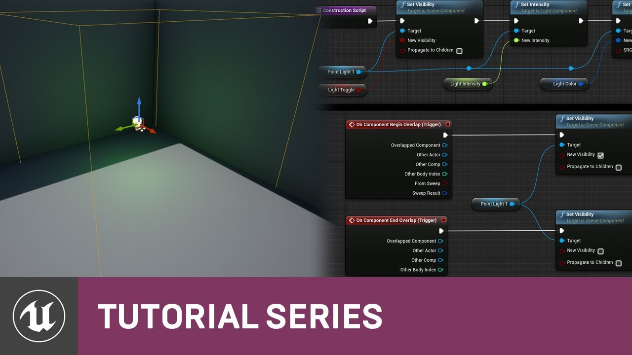 Blueprint quickshot triggerable light 01 v47 tutorial series blueprint quickshot triggerable light 01 v47 tutorial series unreal engine malvernweather Images