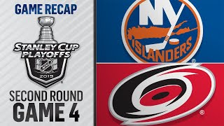 Hurricanes Finish Sweep Of  Slanders Advance To ECF