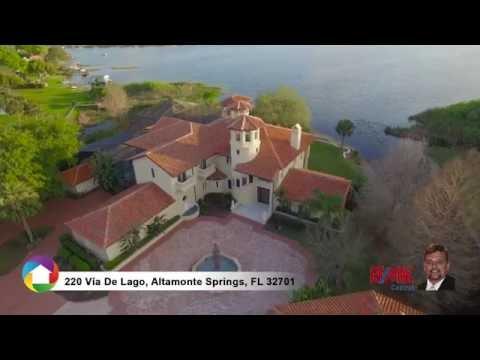 220 Via De Lago Altamonte Springs - Waterfront Seaplane Lake Home