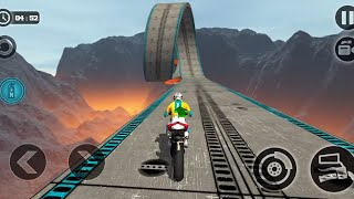 IMPOSSIBLE MOTOR BIKE TRACKS 3D - Red Bike Unlocked - Bike Games 3D Android - MotorCycle Race Game