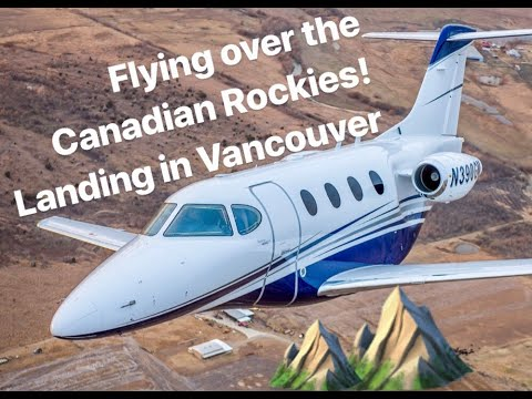 Flying My Private Jet To Canada-A Beautiful View Of The Canadian Mountains
