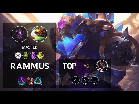 Rammus Top vs Darius - KR Master Patch 10.18