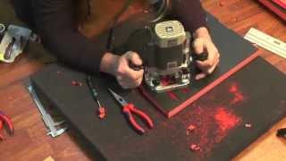 Werkzeugeinlage mit Oberfräse selbst gemacht YouTube