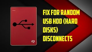external hard keeps disk disconnects fix