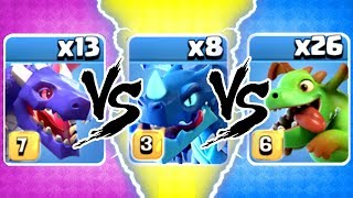 ELECTRO vs BABY vs DRAGON! 🔥 TRIPLE THREAT SHOWDOWN! - Clash Of Clans