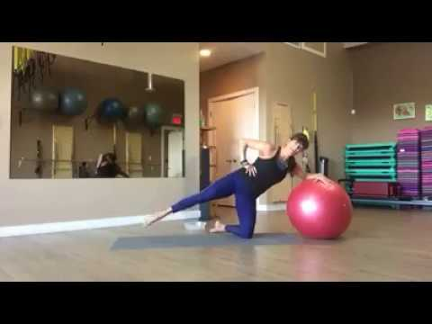 Stability ball advanced Mat Pilates with  Fiona Hermanutz