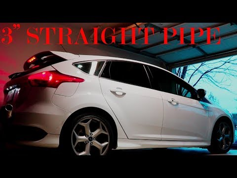 focus st 3 straight pipe exhaust drive by and in car. Black Bedroom Furniture Sets. Home Design Ideas