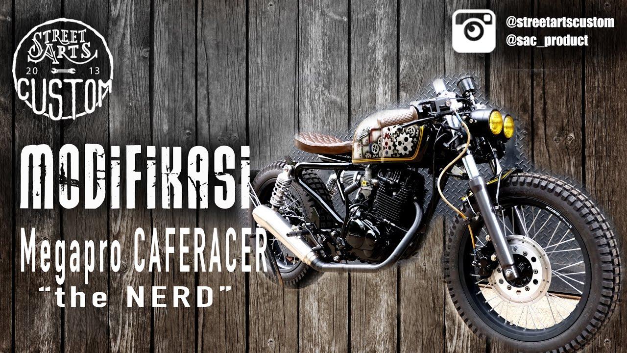 """modifikasi caferacer """"the nerd"""" megapro - english subtitle - youtube"""