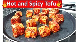 Hot and Spicy Shriracha Tofu | Winter Special | by Rinku