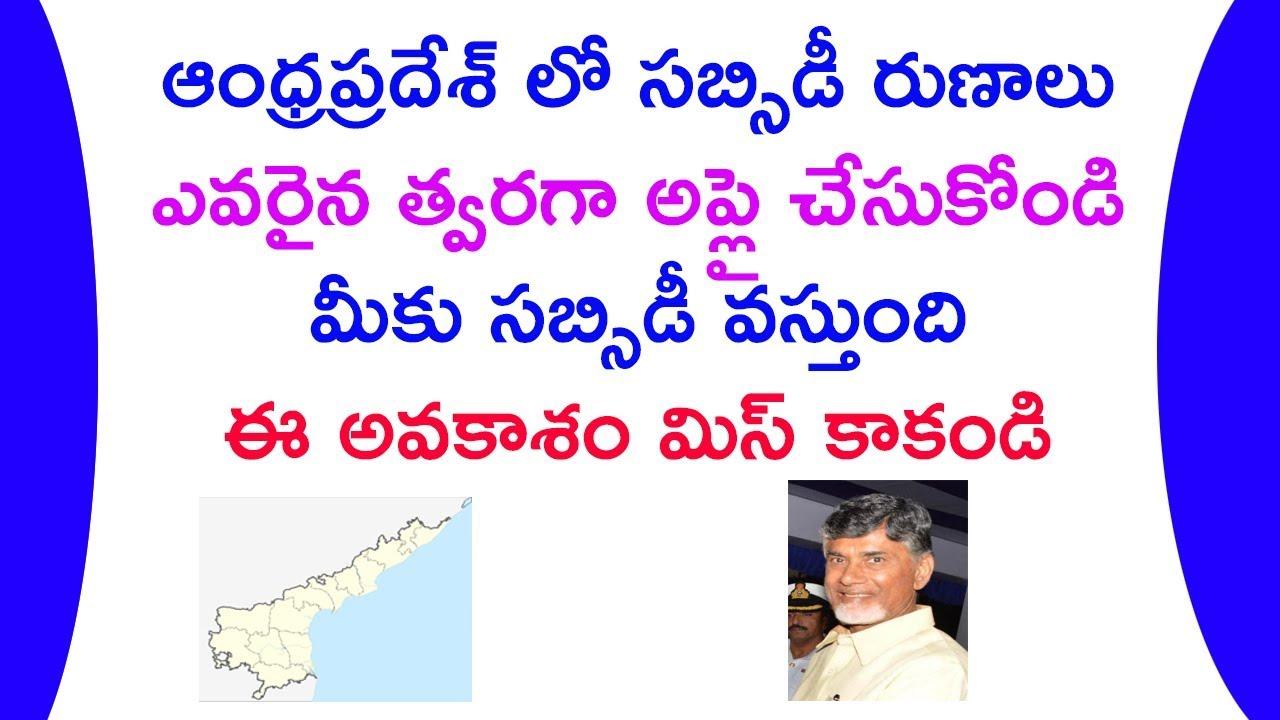 Andhra Pradesh subsidy loans 2018-2019 || ap subsidy loans in telugu bc sc  st kapu subsidy loans