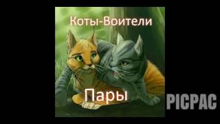 """""""Коты-Воители"""". Грозовое племя. Пары."""